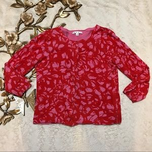 Cabi Red Cardigan Style 299 Size M